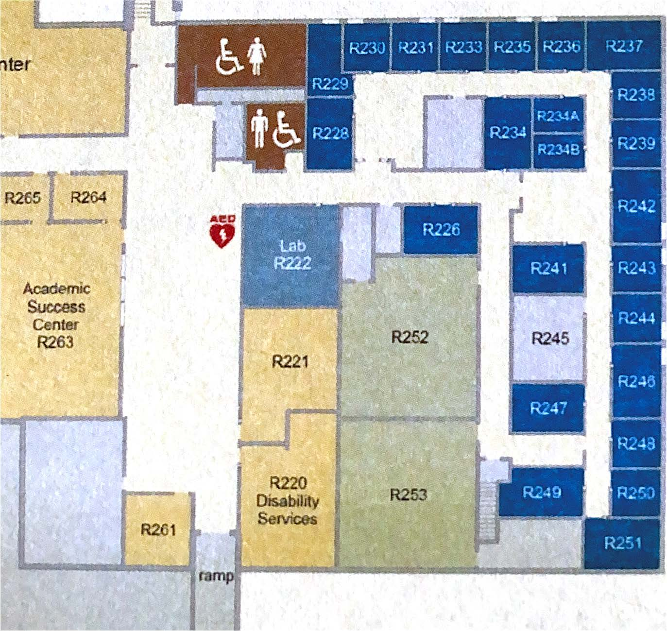 Disability Services Location Map